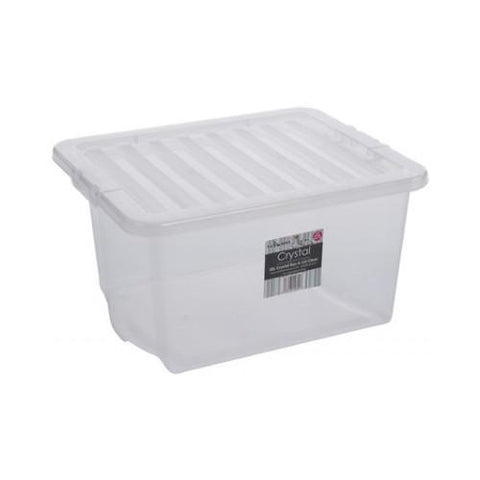 35 Litre Storage Box With Clear Lids