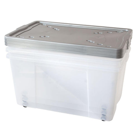 150L Wheeled Plastic Stacker Box