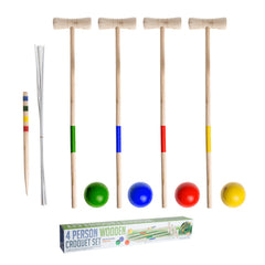 4 Person Wooden Croquet Set