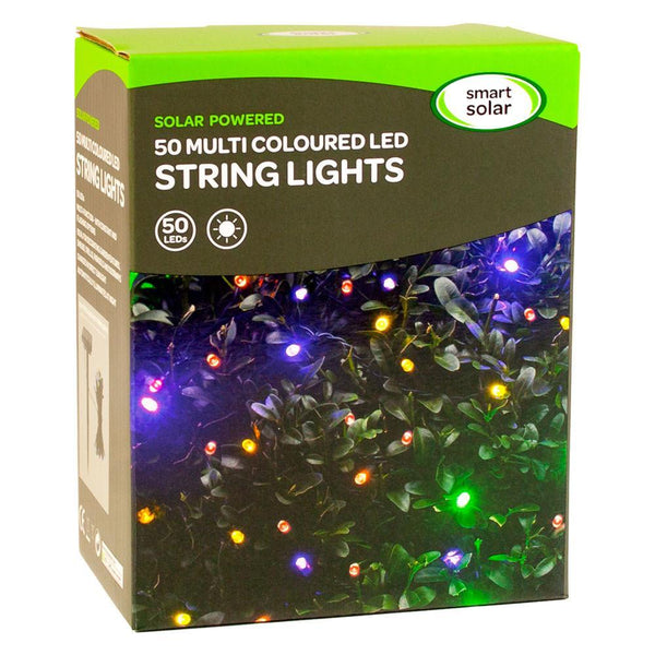 50 Multi Coloured LED String Lights Yorkshire Trading Company