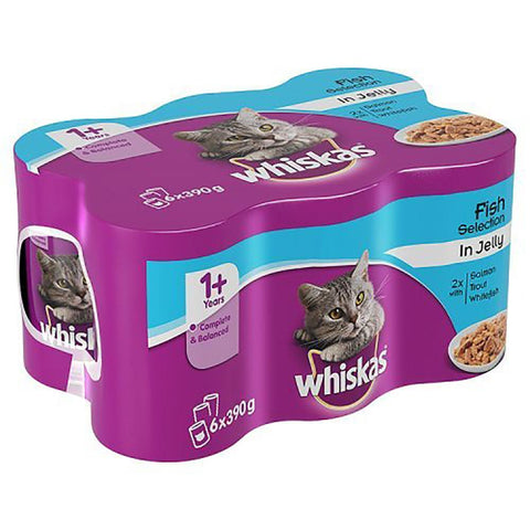 6 pack whiskas cat food