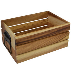 Acacia Wooden Storage Crate