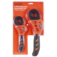 2 piece adjustable strap wrench set