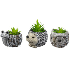 Gem Artificial Plant In Animal Planter