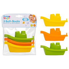 First Steps Bath Boats 3 Pack