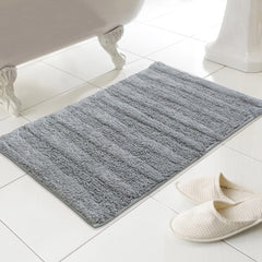 Luxury Madison Grey Bath Mat (100% Cotton)