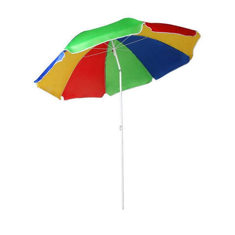 Multi Coloured Beach Parasol