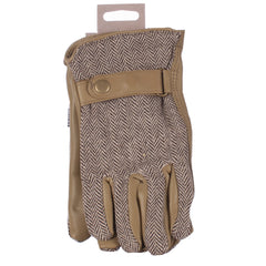 Briers garden gloves beige herringbone