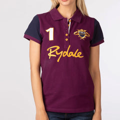 Ladies Equestrian Polo Top Berry Burgandy