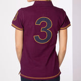 Rydale Plain Womens Polo Shirt With Number 3 Embroidery - Purple