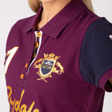 Womens Riding Team Polo Shirts - Berry