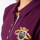 Close Up Of Rydale Equestrian Crest Polo Berry