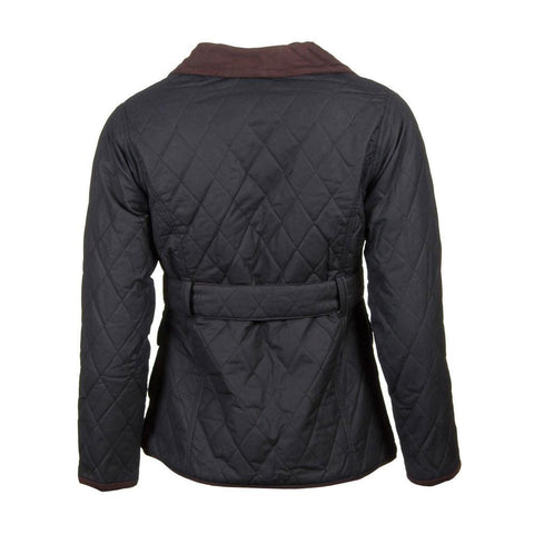 Ladies Belted Diamond Quilted 100 Waxed Cotton Jacket Uk