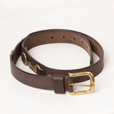 Brown Leather Snaffle Belt