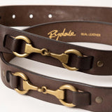 Rydale Brown Leather Horse Riding Belt
