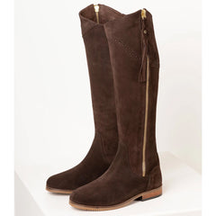 Rydale Ladies Spanish Riding Boots Brown Suede
