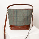 Ladies Country Tweed Bucket Handbag