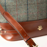 Leather And Tweed Bucket Handbag
