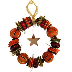 Christmas Orange Circle Decoration