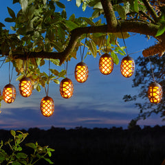 Solar Garden 10 Cool Flame Solar String Lights