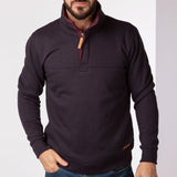 Mens Half Zip Sweatshirt Cabon