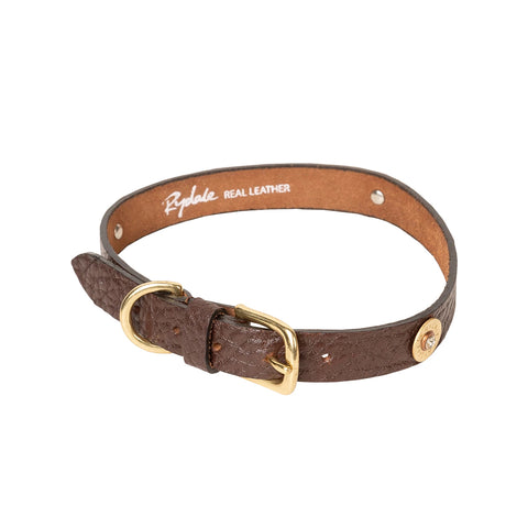 Rydale Leather Dog Collar With Shotgun Cartridge Details