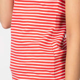 Hores Riding Polo Shirt Stripey Red & White