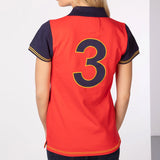 Rydale Plain Womens Polo Shirt With Number 3 Embroidery - Red