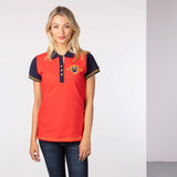 Ladies Equestrian Polo Shirt With Number 3 Back Piece