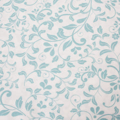 Ivory/Aqua - Pattern : Trailing Stem