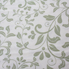 Ivory/Green - Pattern : Trailing Stem