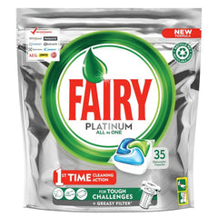 Fairy Platinum Dishwasher Tablets Original 35 Pack