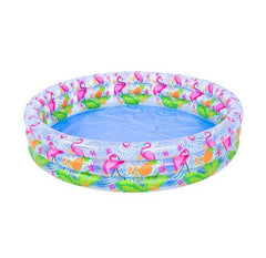 Inflatable Flamingo 3 Ring Pool