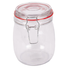 Storage Jar & Clip Lid Medium 6 Pack