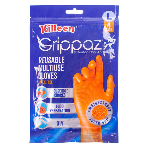 Large Killeen Grippaz rubber Gloves For Cleaning And DIY