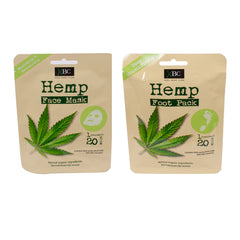 Hemp Face Mask & Foot Pack