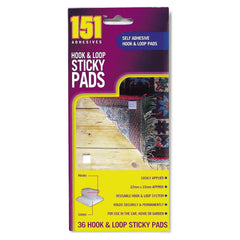 Hook & Loop Sticky Pads 36pk