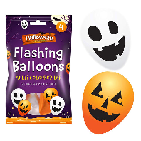 Halloween Multi Coloured LED Balloons