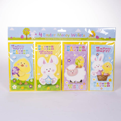 4pk Easter Money Wallets