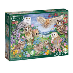 Owls In The Wood 1000 Pieced Puzzle