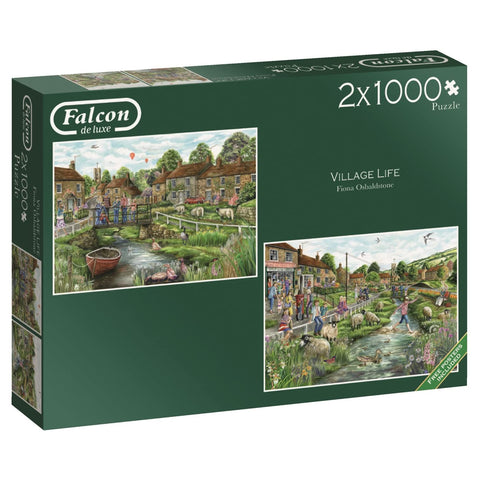 Village Life 2 x 1000 Piece Jigsaw