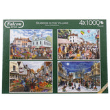 Seasons In The Village Jigsaw Puzzle