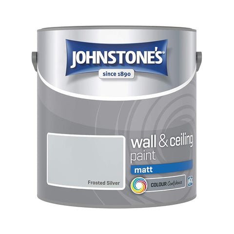 Johnstone's Frosted Silver Wall & Ceiling paint 2.5 LTR