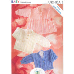 Baby Cable Stripe Cardigans and Matching Hat Booties Knitting Pattern UKHKA118