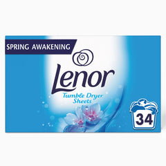 Lenor Tumble Dryer Sheets Spring Awakening 34 Pack