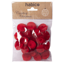 2.5cm Red Pompoms