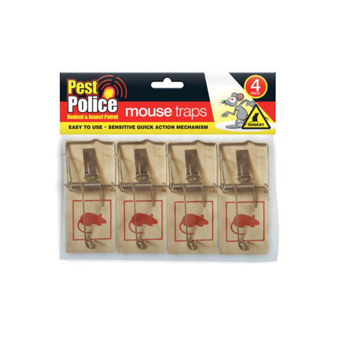 4 Pack Classic Mouse Traps