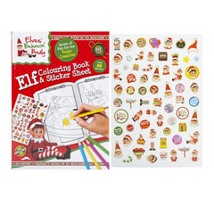 Christmas Elf Colouring Book and Stickers