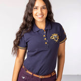 Navy Blue Polo Shirt With Riding Crest