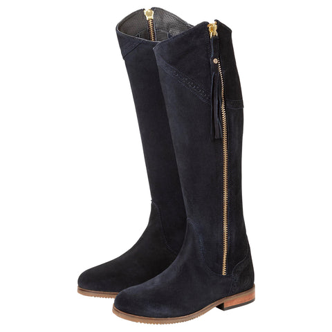 Rydale Ladies Spanish Riding Boots Navy Suede